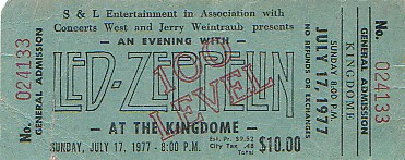 MY LED ZEPPELIN TICKET STUBS PAGE TWO